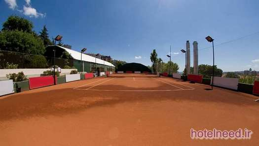 Outdoor clay court