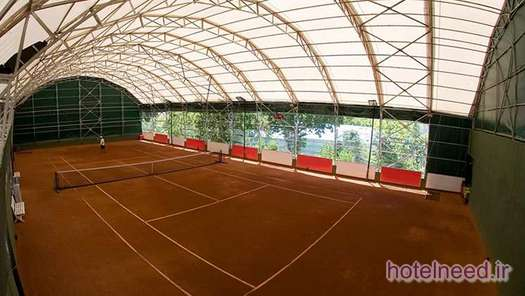 Covered clay court