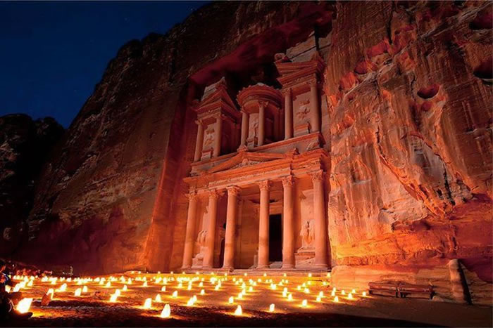 17-Places-To-Travel-Before-You-Die-Petra-by-night-Jordan