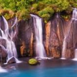 عجیب ترین آبشار در ایسلند