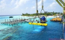 تصاویر ساخت بزرگترین رستوران زیر آب جهان در مالدیو