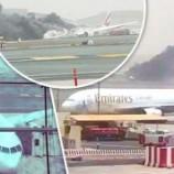 هواپیمای مسافری امارات در فرودگاه دبی دچار سانحه شد