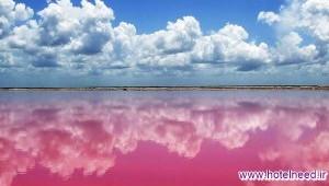 دریاچه عجیب صورتی مکزیک